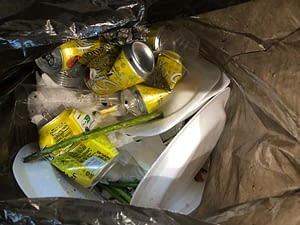 HERE WE CAN SEE HOW MY BIN IS FULL OF CANS